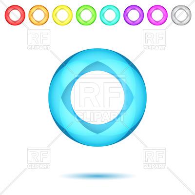 400x400 Shiny Neon Mosaic Rings