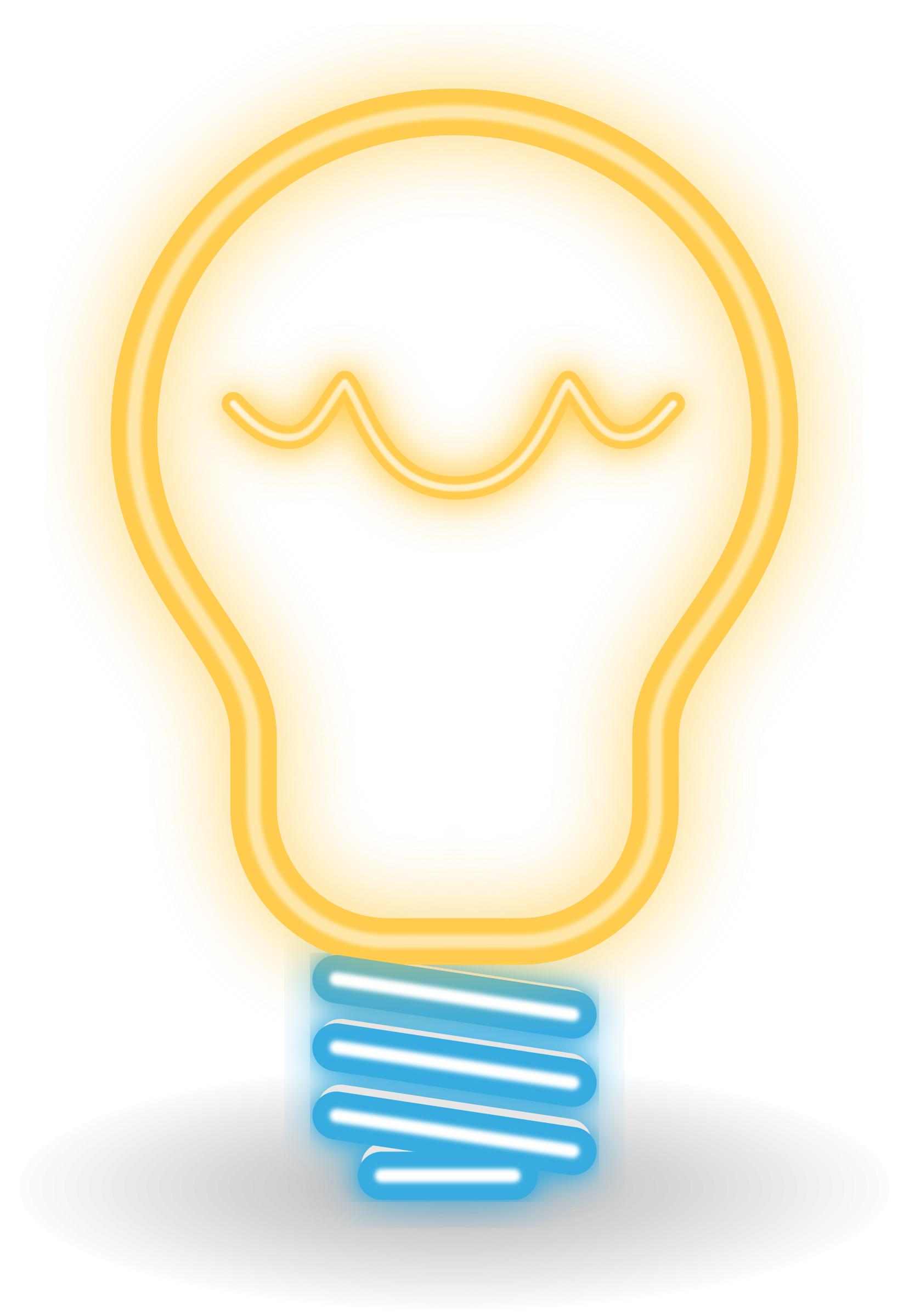 1657x2400 Neon (Classic) Bulb Icons Png