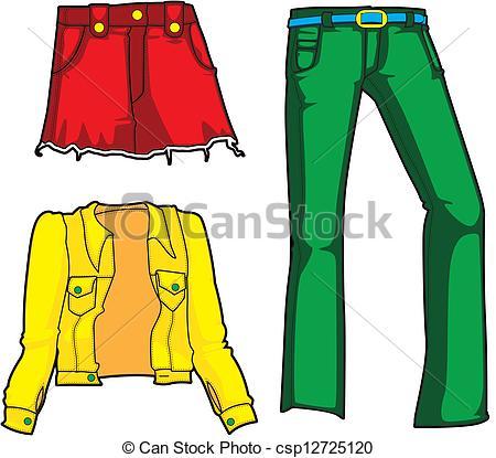 450x415 Denim Fashion In Neon. Denim Jacket, Skirt, And Jeans In Clip