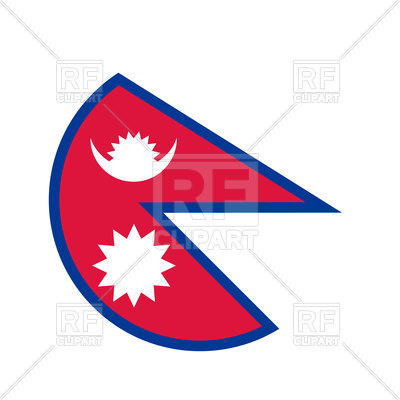400x400 Nepal Circle Flag Royalty Free Vector Clip Art Image