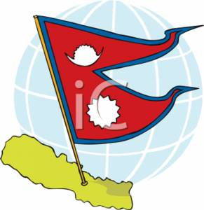 291x300 Clipart Picture Of The Flag Of Nepal