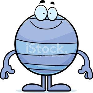 300x300 Happy Cartoon Neptune Stock Vectors