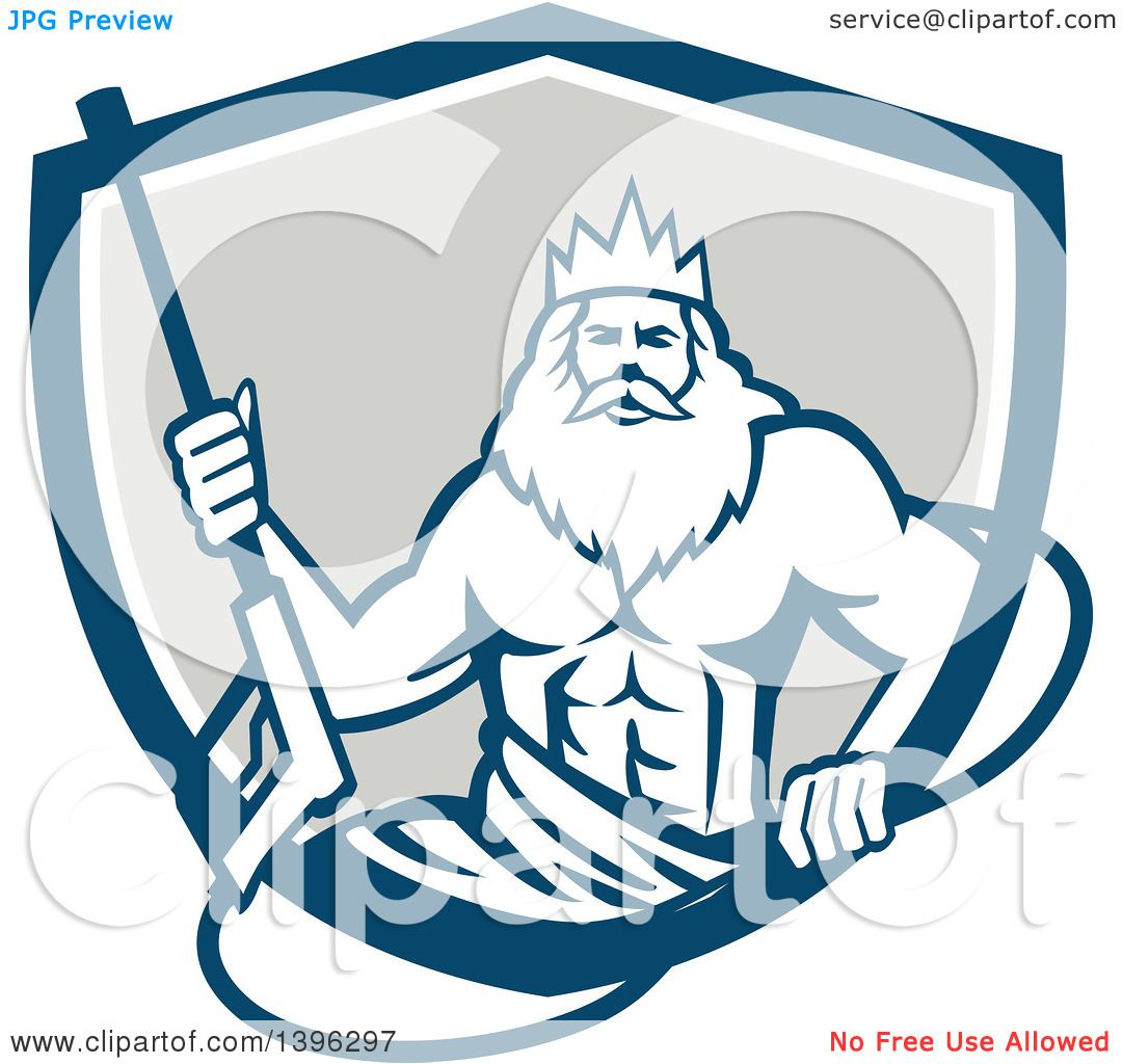 1080x1024 Clipart Of Retro Man, Neptune, Holding Pressure Washer Wand In