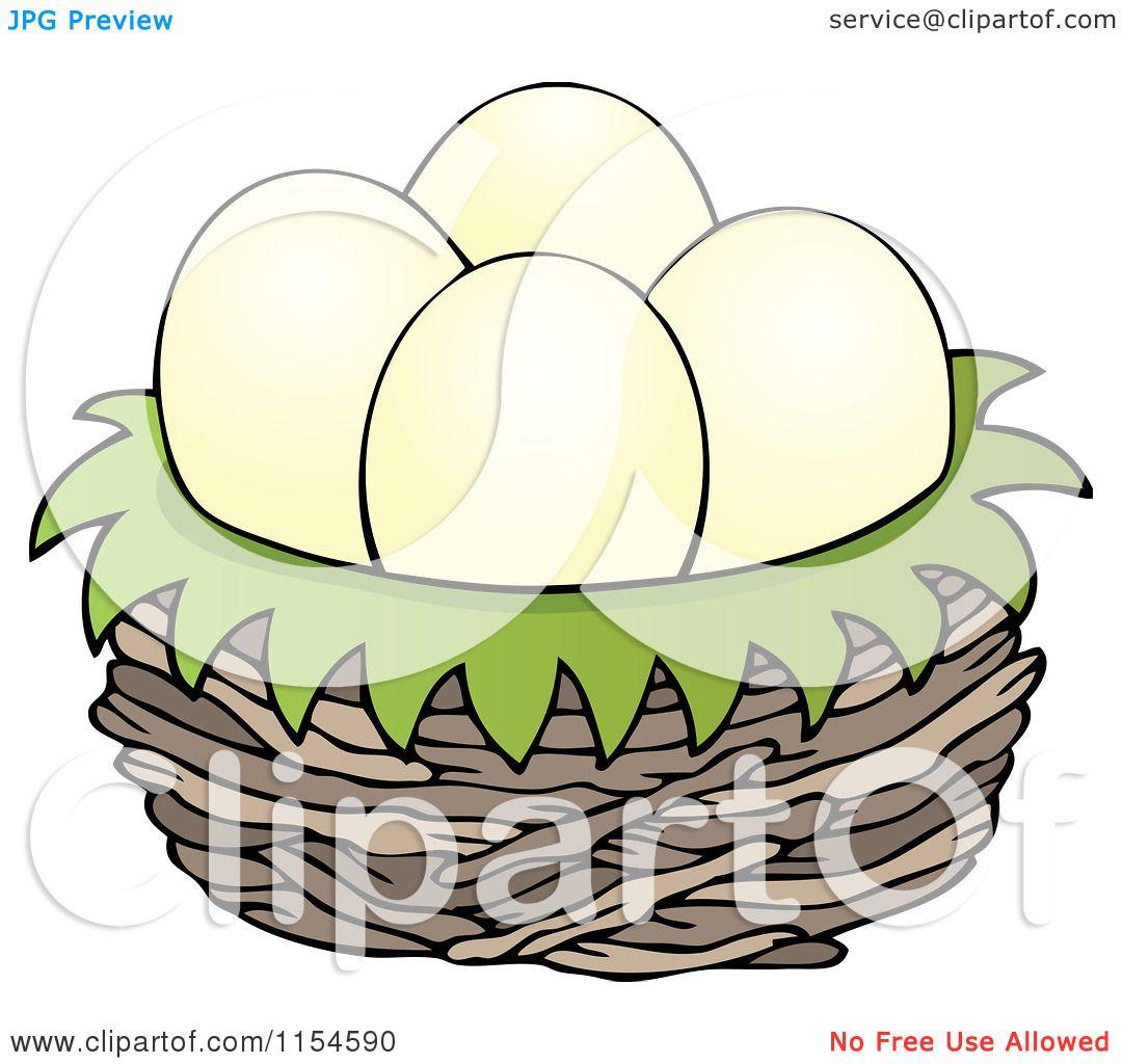 1080x1024 Cartoon Of Eggs In A Bird Nest