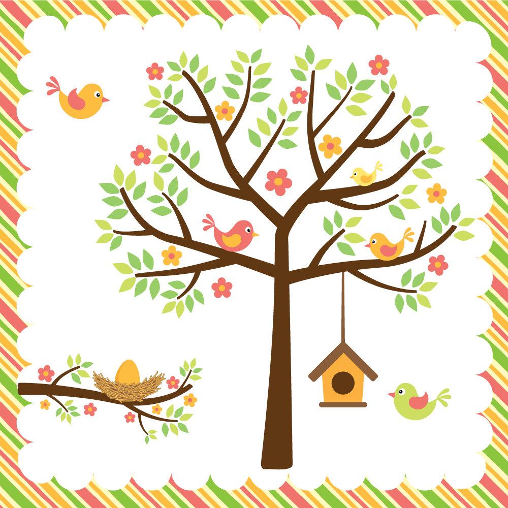 1000x1000 Nest Clipart Spring Bird