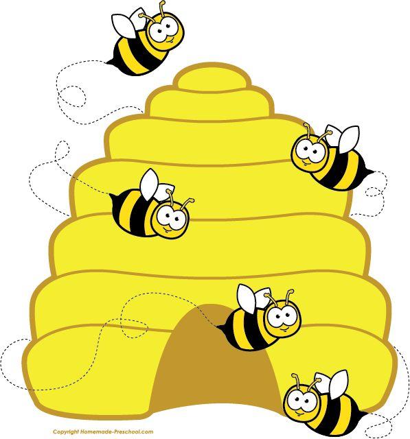597x640 Bee Hive Clipart Bee Nest