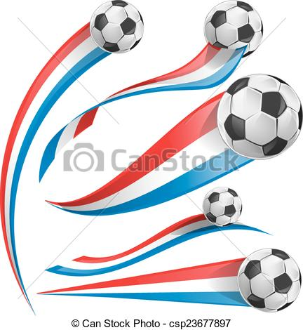 432x470 France And Netherlands Flag Set With Soccer Ball Eps Vectors