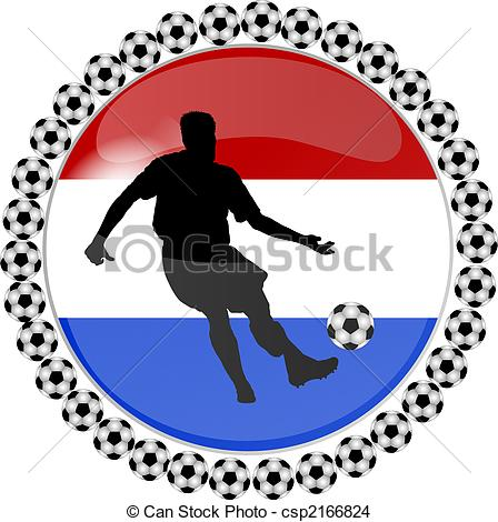 448x470 Illustration Of A Soccer Button Netherlands Drawing