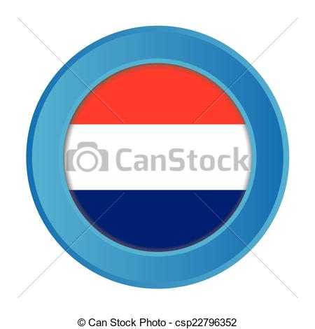 450x470 A 3d Button With The Flag Of Netherlands Clipart Vector