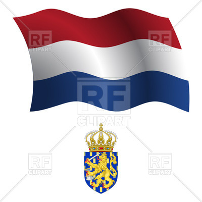 400x400 Netherlands Flag And Coat Of Arms Royalty Free Vector Clip Art