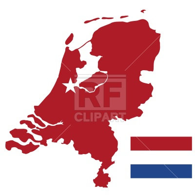 400x400 Netherlands Map And Flag Royalty Free Vector Clip Art Image