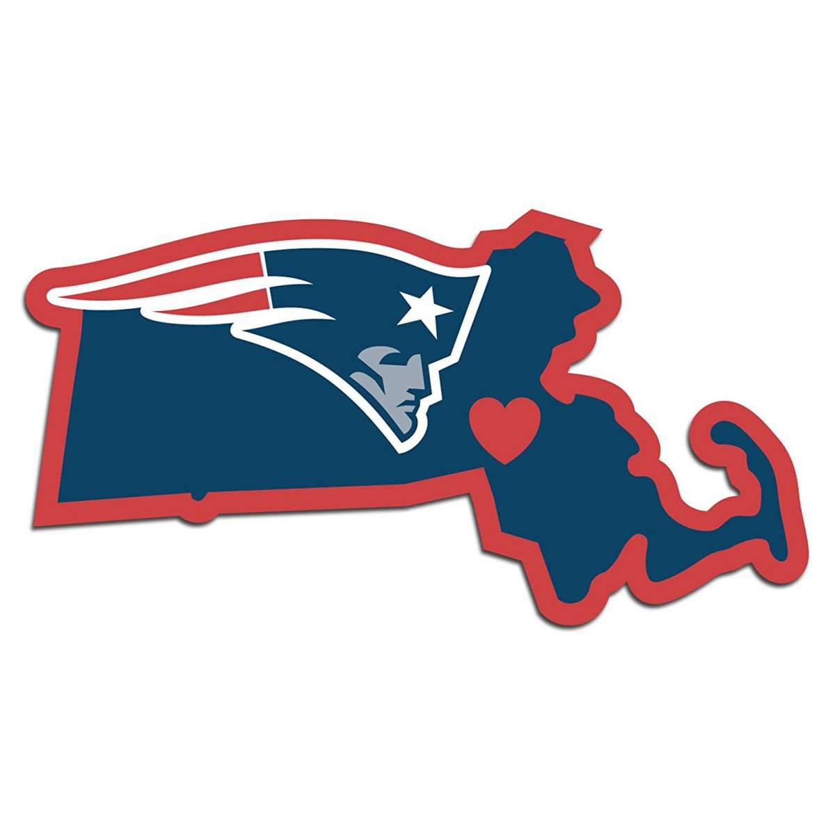 1200x1200 New England Patriots Home State Decal