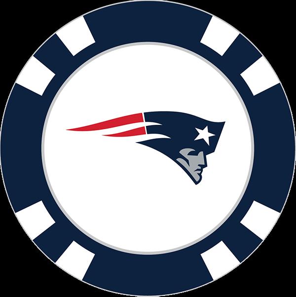 600x602 New England Patriots Poker Chip Ball Marker