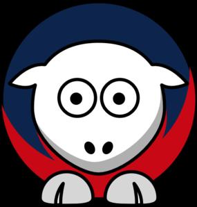 285x298 Sheep 4 Toned New England Patriots Team Colors Clip Art