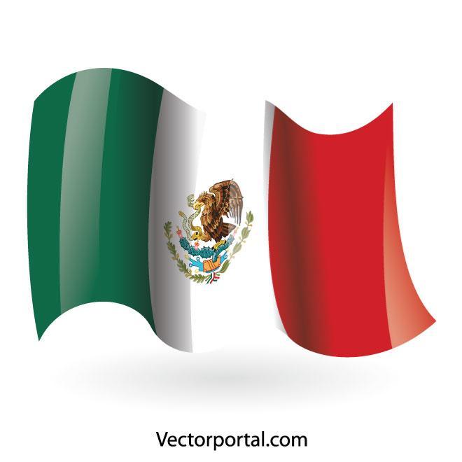 660x660 Mexican Flag Vector Clip Art