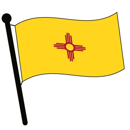 500x500 New Mexico Flag Clipart