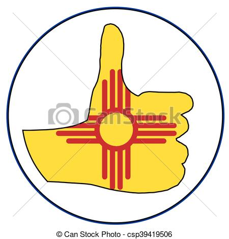 450x470 New Mexico Flag Vector Clipart Eps Images. 331 New Mexico Flag