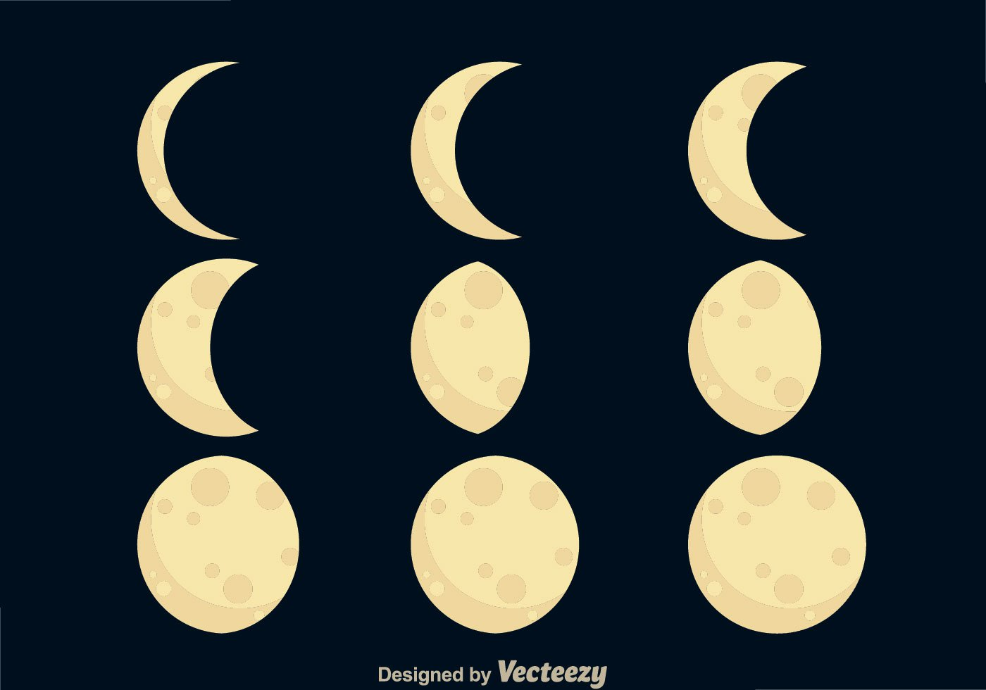 1400x980 Clip Art Moon Phases Clip Art