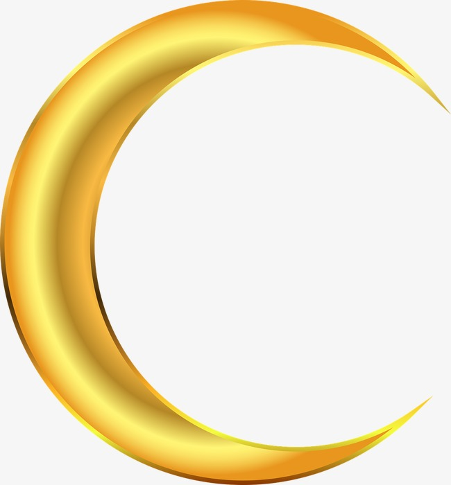 650x700 Golden Moon, Golden, Crescent, Moon Png Image And Clipart For Free