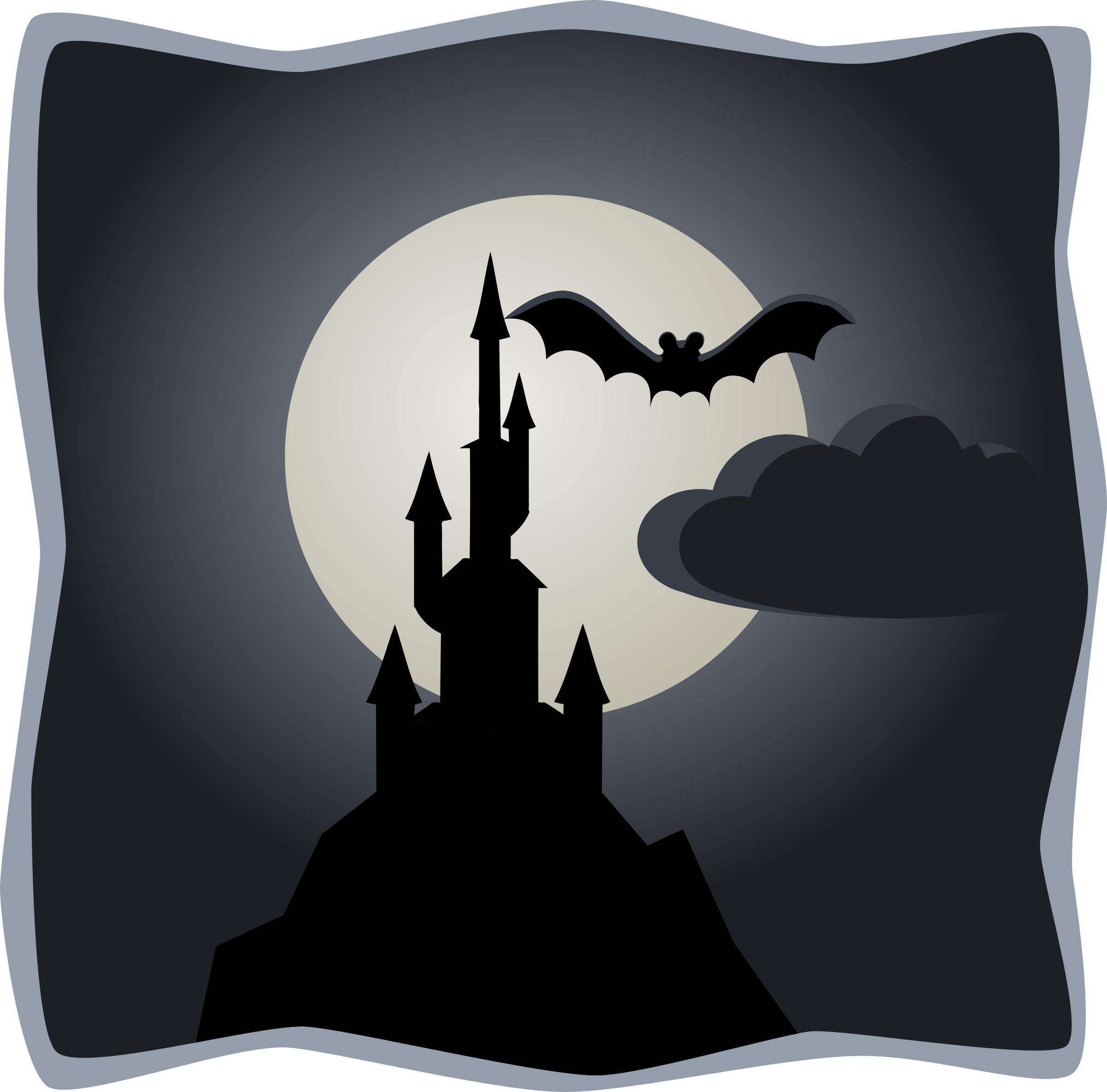 2400x2367 Spooky Castle In Full Moon Icons Png