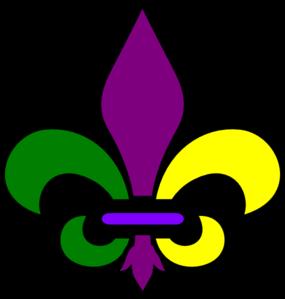 285x299 New Orleans Fleur De Lis Clip Art