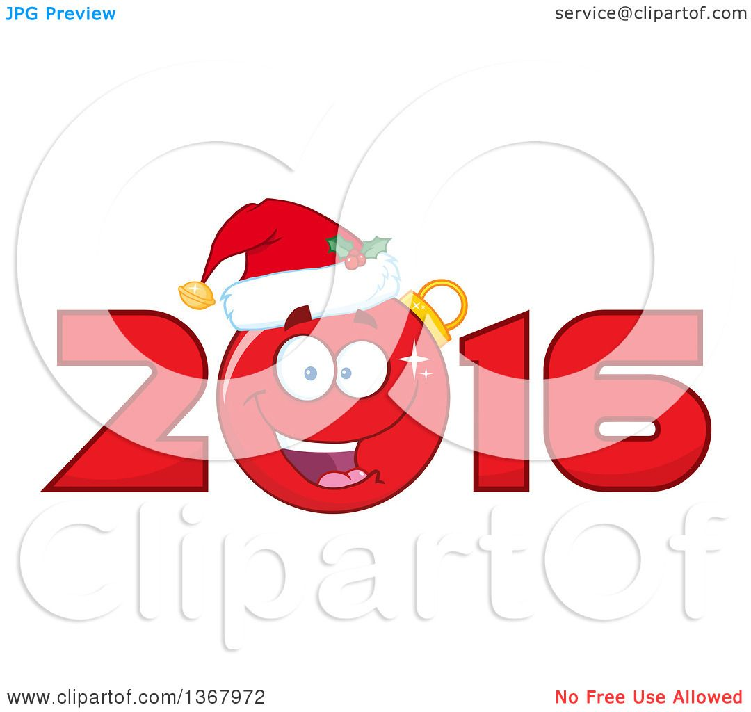 1080x1024 Clipart Of Happy Christmas Bauble Ornament Character Wearing