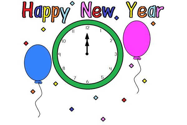 600x400 Happy New Year 2016 Clipart Template 1st January 2016 Happy New