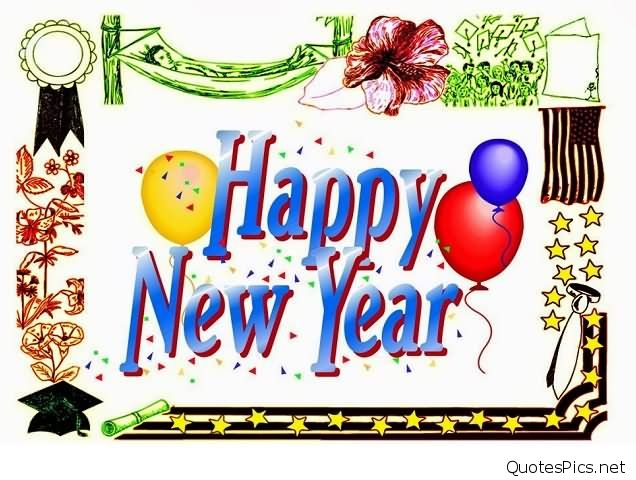 636x480 Balloons Happy New Year Celebration Clipart Picture