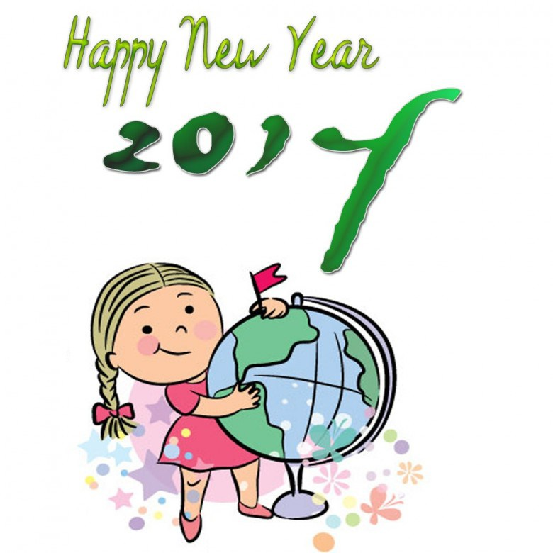 780x780 Cartoon New Year Clip Art Merry Christmas And Happy New Year 2018