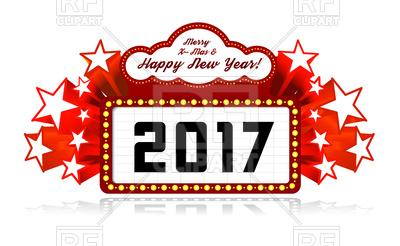 400x246 New Year Marquee 2017 Royalty Free Vector Clip Art Image