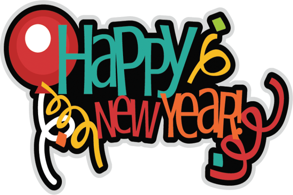 600x400 Happy New Year Clipart Png
