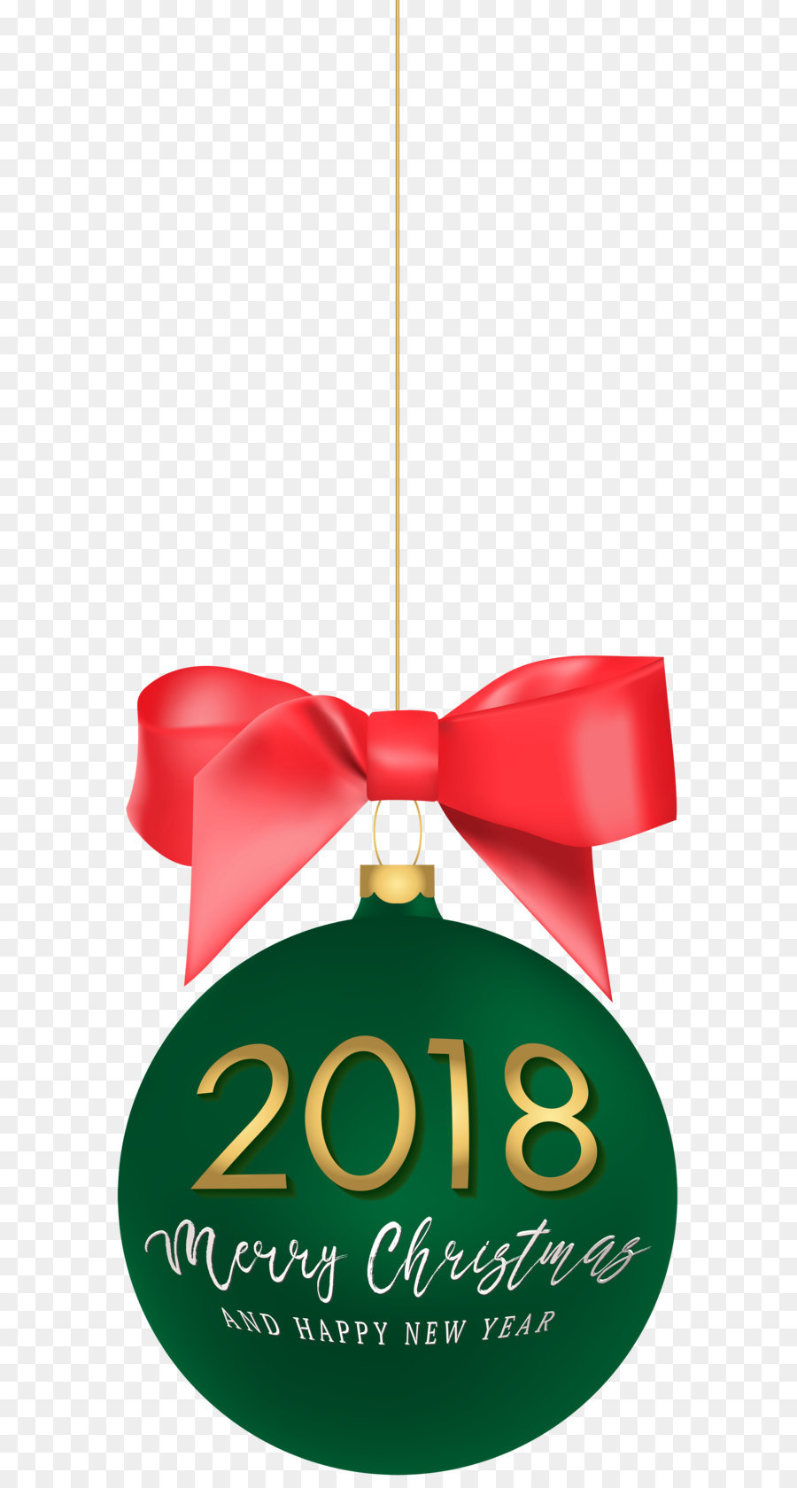 900x1680 2018 Happy New Year Christmas Ball Png Clip Art Image Png Download