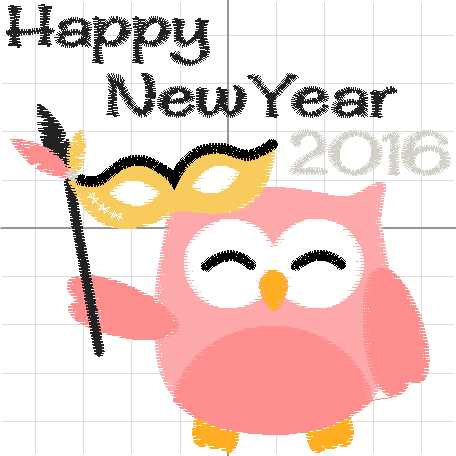 456x456 Owl New Years Clipart