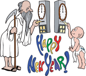 300x264 Father Time New Year Clip Art Merry Christmas And Happy New Year