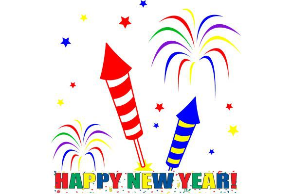600x400 Happy New Year Clipart, Animated New Year 2019 Clip Art Free