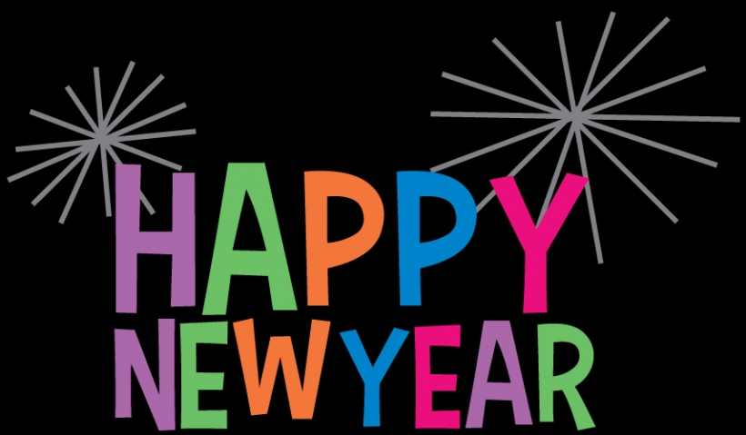 820x479 Happy New Year Clipart Colourful Transparent Png Stickpngpng Clip