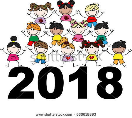 450x403 2018 Cartoon New Year Clip Art New Year Clipart Download