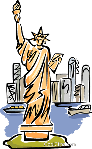 298x480 Statue Of Liberty Royalty Free Vector Clip Art Illustration