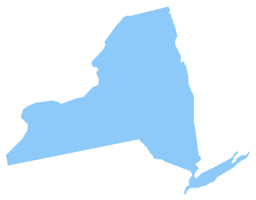 369x288 Clipart New York State Map