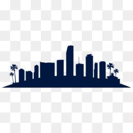 260x260 Miami Skyline Silhouette Clip Art