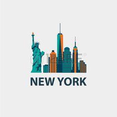 236x236 New York City Design Clipart Vectoriel 177572118 Travelplaces