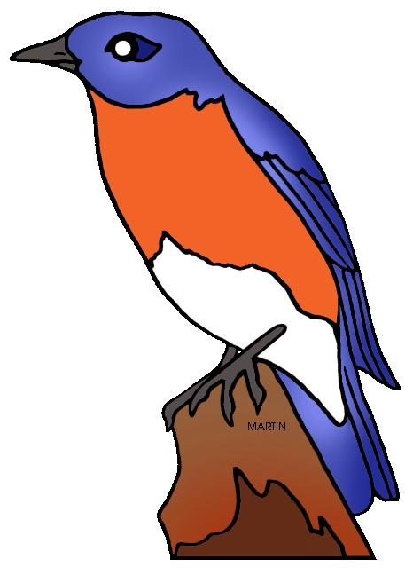 466x648 United States Clip Art By Phillip Martin, New York State Bird