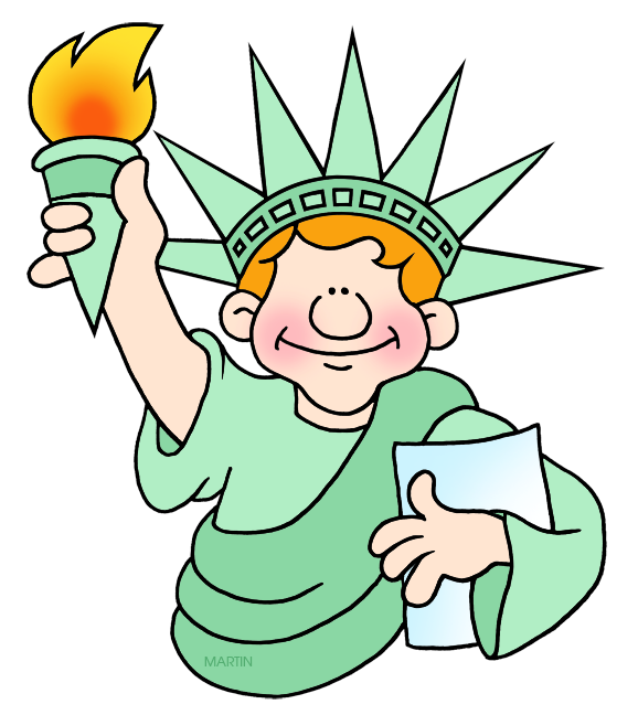 578x648 United States Clip Art By Phillip Martin, New York Tourist