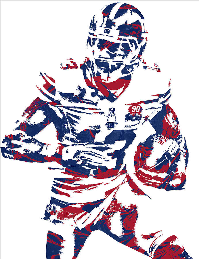 692x900 Odell Beckham Jr New York Giants Pixel Art 6 Mixed Media By Joe