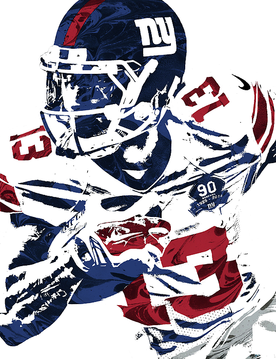 538x700 Odell Beckham Jr New York Giants Pixel Art Kids T Shirt For Sale