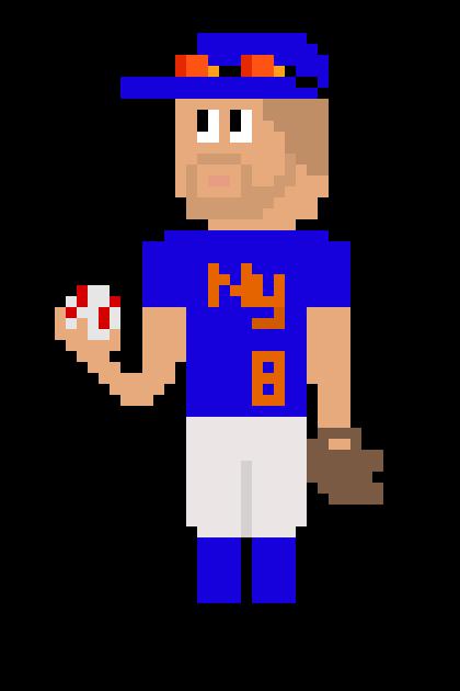 420x630 New York Mets Pixel Art Maker