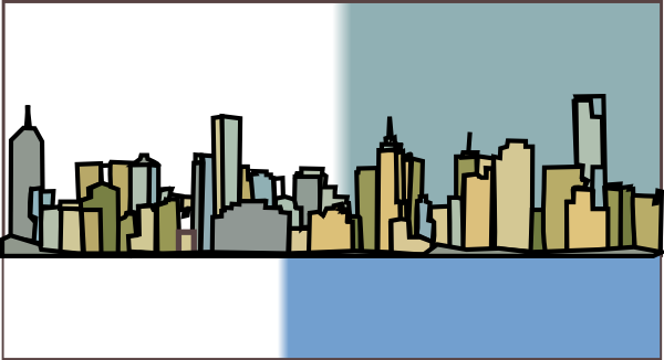 600x326 Collection Of Skyline Clipart Colour High Quality, Free