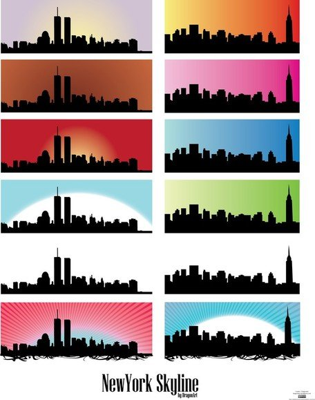456x579 Free Horizonte Nos Vectores De New York City Clipart And Vector
