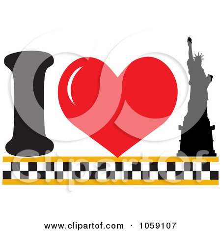 450x470 Royalty Free Vector Clip Art Illustration A Heart And Statue