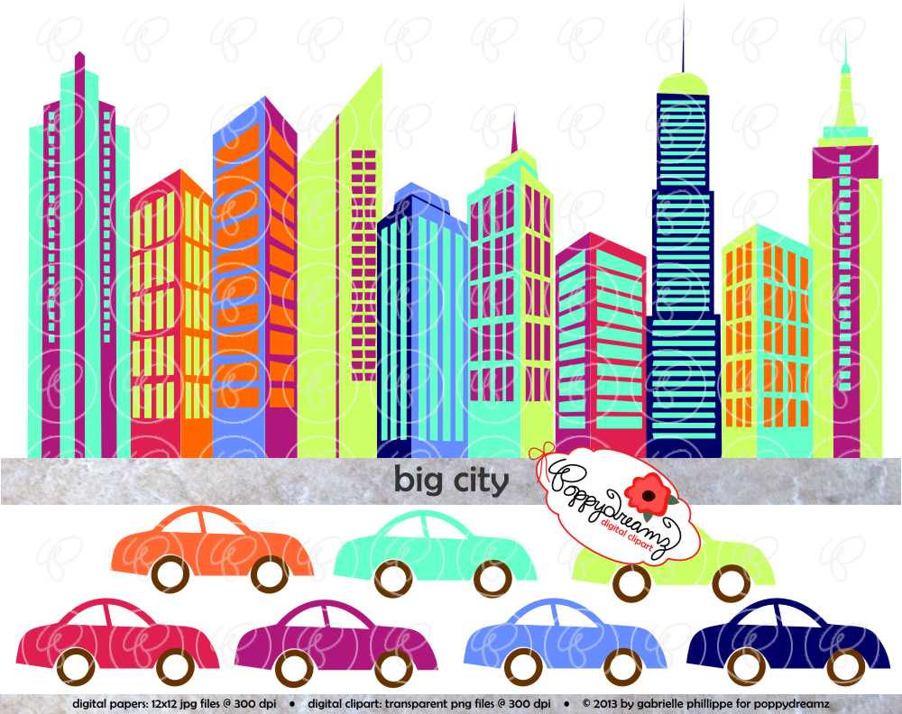 1000x792 Big City Digital Skyscraper Clip Art Skyscrapers Tall